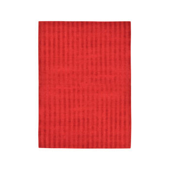 Tapis Vertical Stripes Red