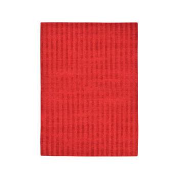 Rug Vertical Stripes Red