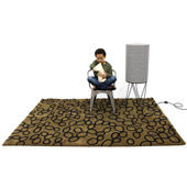 Tapis Ovo Brown