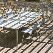 Table AllSize 220 - Alluminio puntinato