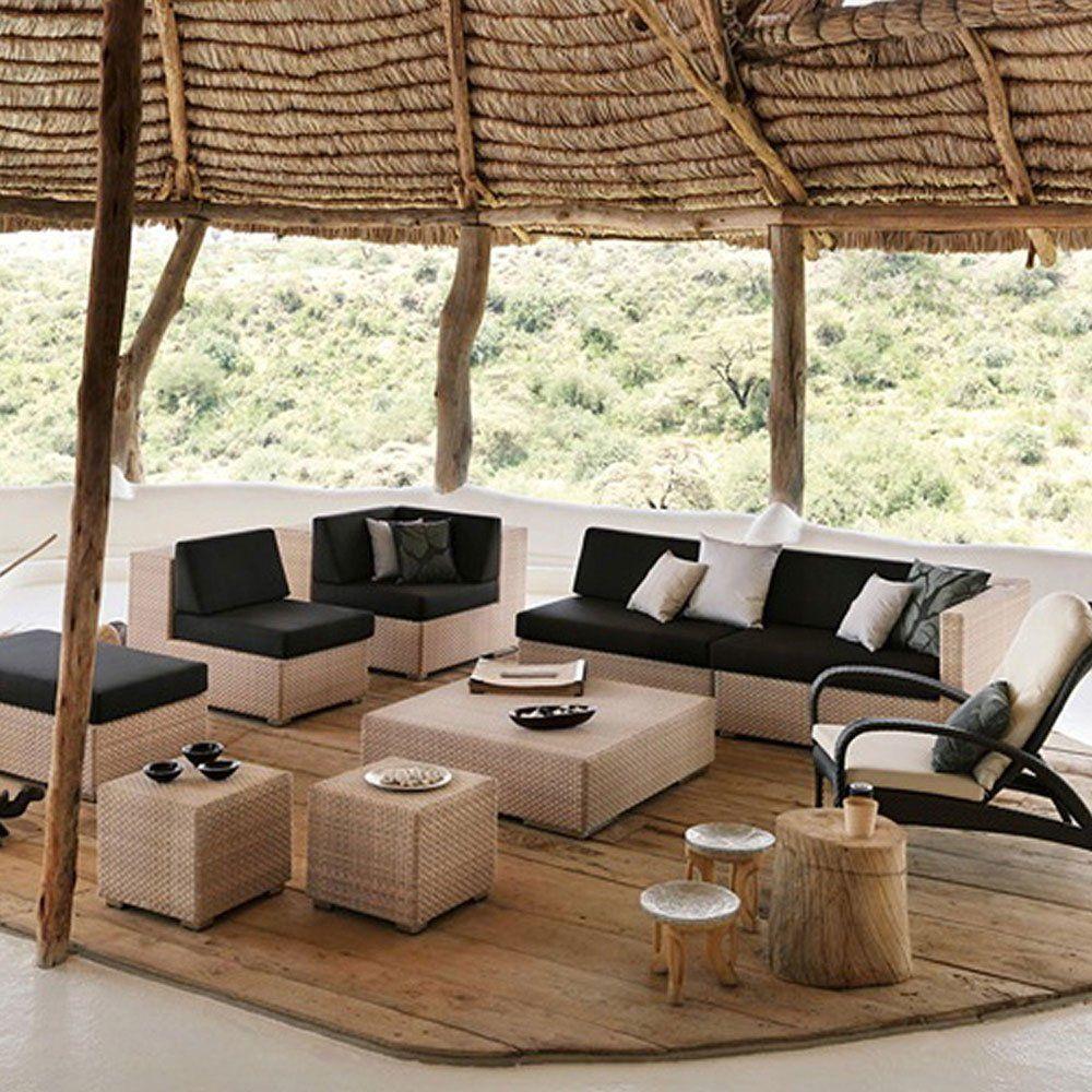 dedon kleine tische f r den garten beistelltisch lounge designbest. Black Bedroom Furniture Sets. Home Design Ideas