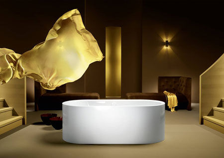 Bathtub Centro Duo Oval freestanding